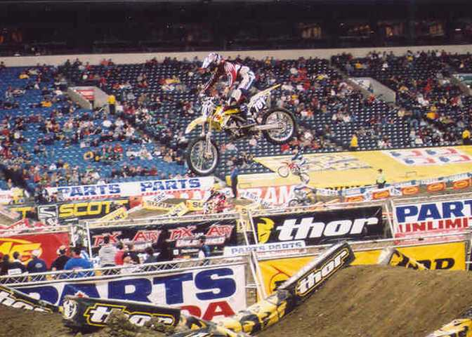 James Tyler Thompson, Tyler Thompson, qualified 24th for the evening program at the 2005 RCA Dome THQ AMA Supercross