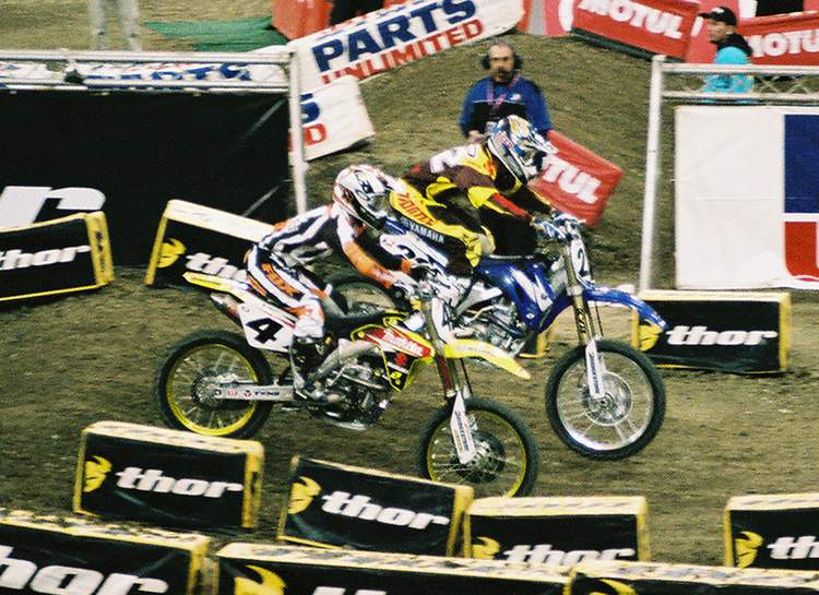 Chad Reed and Ricky Carmichael 2006 RCA Dome THQ AMA Supercross
