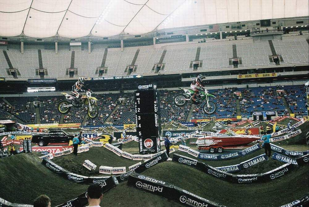 James Stewart and Ricky Carmichael 2006 RCA Dome THQ AMA Supercross